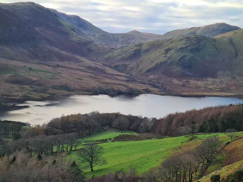 View over Crummock Water from Rannerdale