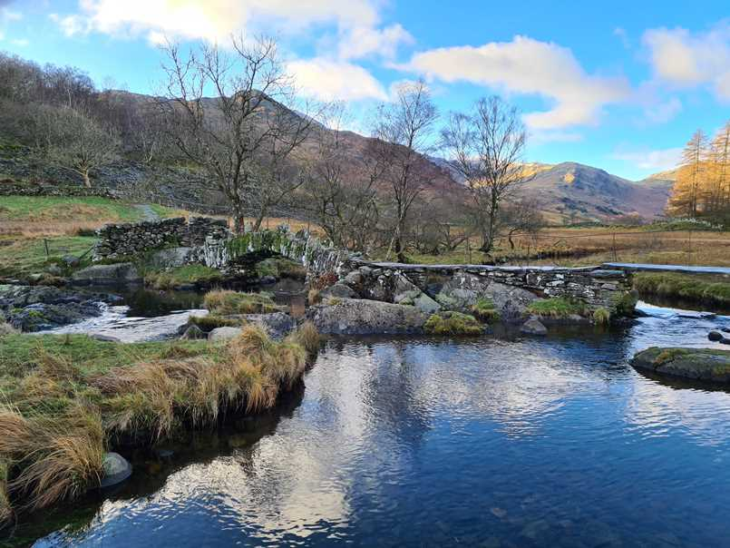Slater Bridge on a walk in the Lake District