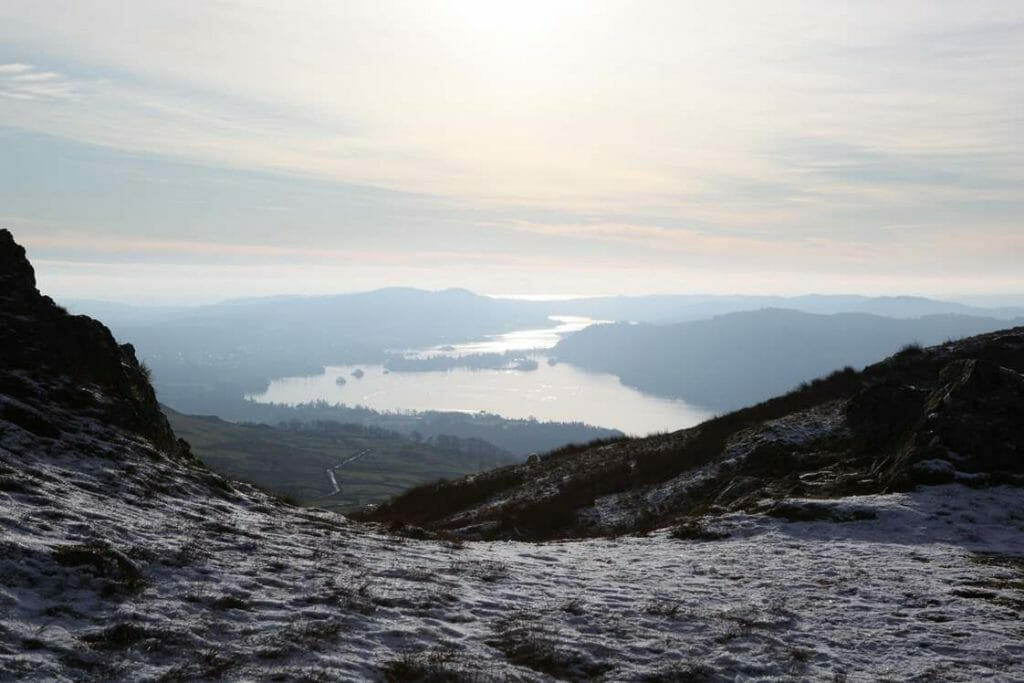 View over Windermere from Wansfell Pike
