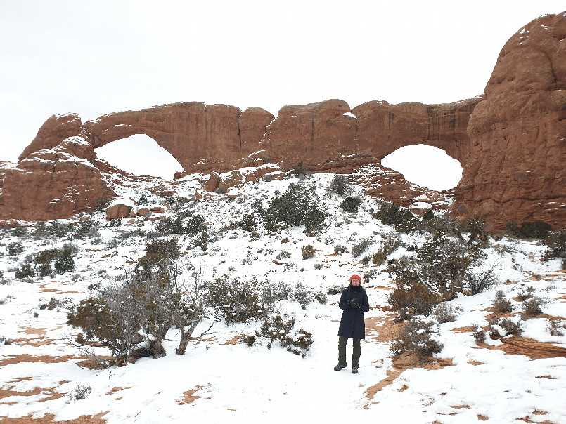 Me in front of Windows on a one day visit to Arches National Park