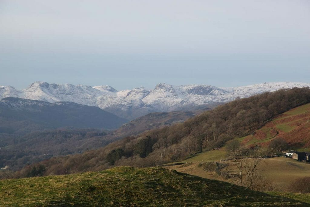 View over the fells from Hundreds Road