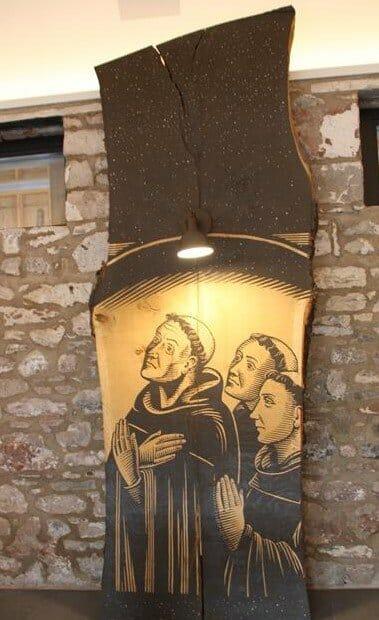 Religious artwork within the Cloister