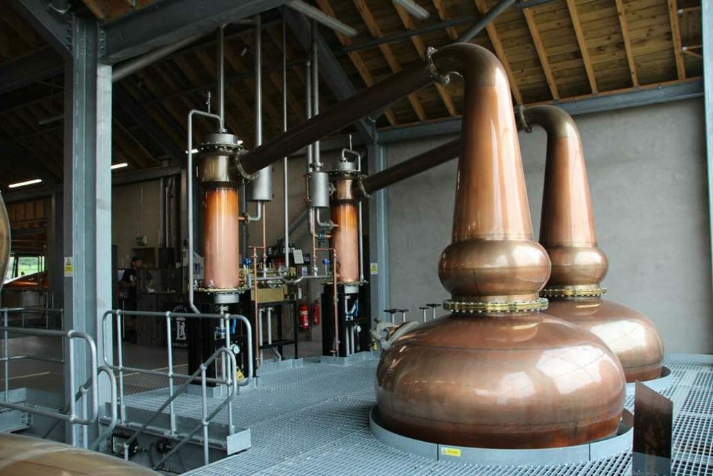 Coppers stills in Lindores Abbey