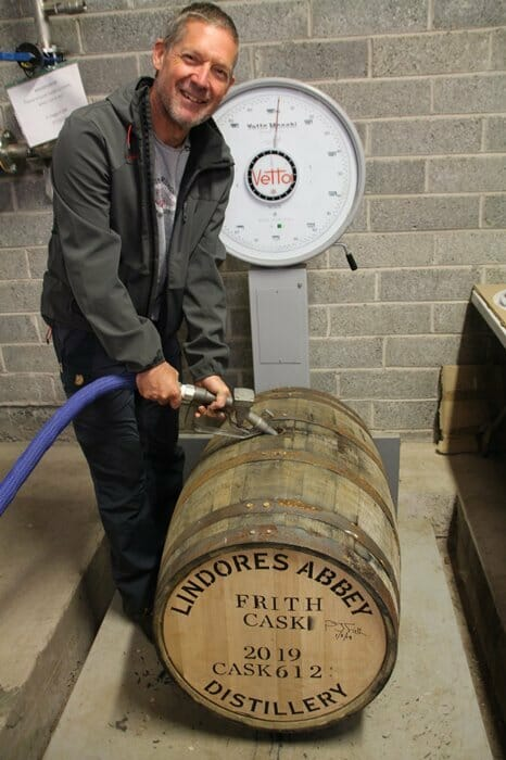 Filling the barrel with new spirit