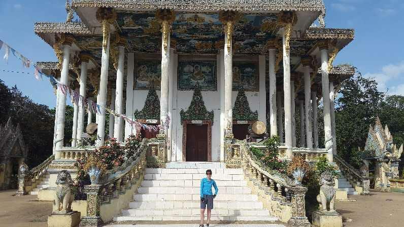 Standing in front of Wat Ek Phonm