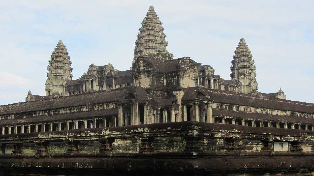 Angkor Wat on cycling trip in Cambodia