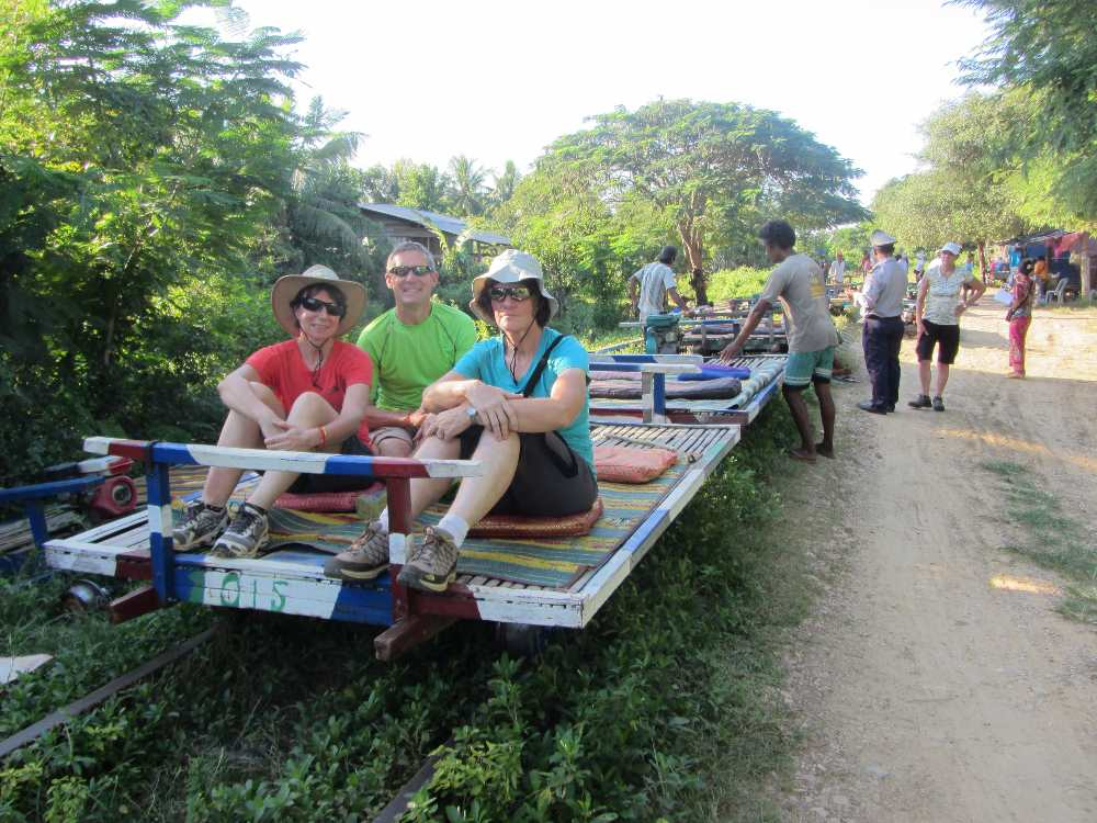 Sitting on the bamboo train